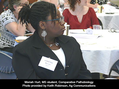 Moriah Hurt, MS student, Comparative Pathobiology