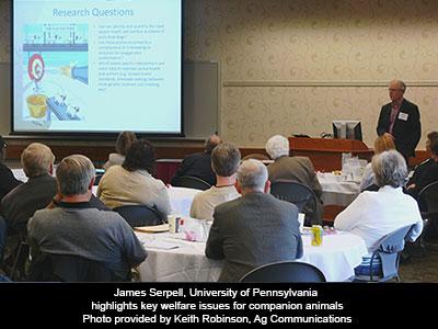 James Serpell, University of Pennsylvania highlights key welfare issues for companion animals