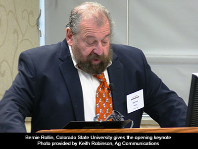 Bernie Rollin, Colorado State University gives the opening keynote