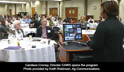 Candace Croney, Director CAWS opens the program