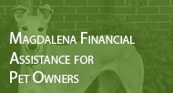 Donate to the Magdalena Financial Assistance for Pet Owners program